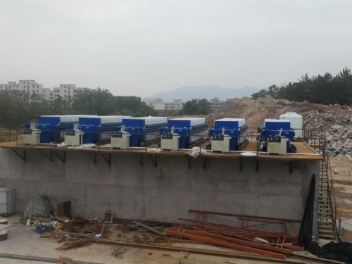 浙江义乌矿石污水处理现场